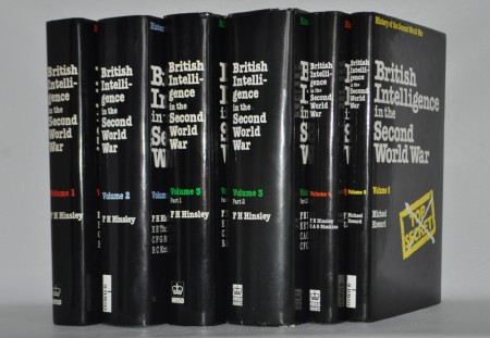 British Intelligence in the Second World War. 5 volumes in 6 parts.