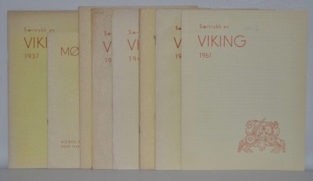 Div. særtrykk/supplement av Viking + 1 stk. Mølen