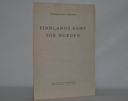 Finnlands kamp for Norden.  (Frontkjemperhefte)